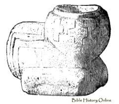 ornamental pipe of the sandstone images of ancient american