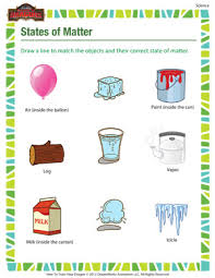 states of matter u2013 science printable for grade 3