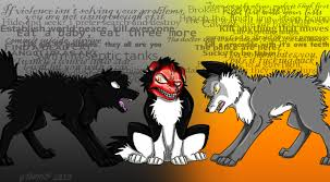 Meme Courage Wolf - insanity wolf vs courage wolf vs smile dog