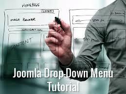 to create a multi level drop down menu in joomla