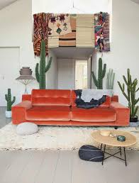 Living Room With Orange Sofa 10 Reasons To Say Yas To A Velvet Sofa A Dash Of Fash
