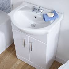 White Gloss Bathroom Vanity Unit Basin Sink Mm Cloakroom - Bathroom basin and cabinet 2