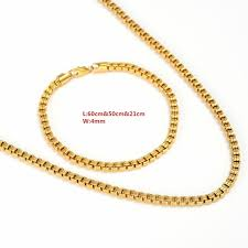 gold filled necklace set images Buy bangrui gold filled jewelry set for women jpg