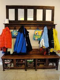coat rack made from an old door pretty handy