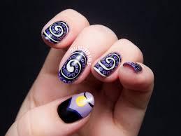 disney villain the little mermaid ursula inspired nail art style