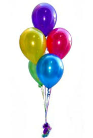 baloon boquets balloon bouquet of 5 treated any colour perth wa balloons abuzz