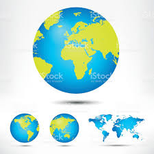 World Map Globe by World Map And Globe Detail Vector Illustration Stock Vector Art