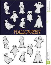 cartoon halloween ghosts stock vector image 42729164
