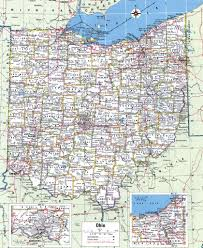 Map Of Ohio by Ohio County