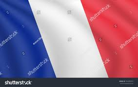 Image Of French Flag Realistic Waving Flag France Current National Stock Vector