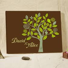 aliexpress com buy rustic wedding guest book fingerprint tree