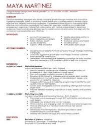good marketing resume sample example of marketing resume gse bookbinder co
