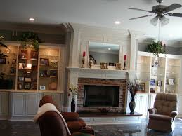fireplace surround w bookcase cabinets on each side u2014 336 342 9268