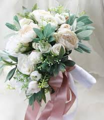 silk wedding bouquet boho bouquet bridal bouquet silk