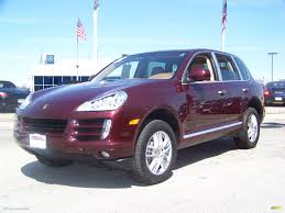 dark purple porsche 2008 carmona red metallic porsche cayenne s 4071583 gtcarlot