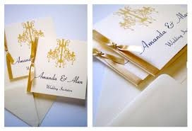 Folded Invitation Card Yellow Blossom Designs Chandelier Collection Diamantes