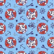 nautical wrapping paper cotton fabric character fabric disney mickey and minnie