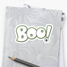 cartoon boo type design halloween ghost hand lettering with