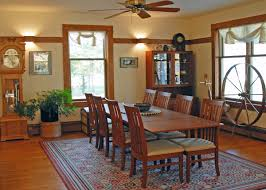 Craftsman Style Dining Room B U0026 B Images Whitefish Bay Farm