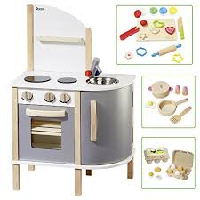 howa küche howa spielküche kinderküche aus holz incl topfset kne https