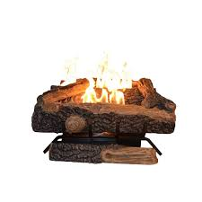 Portable Gas Fireplace by Emberglow Oakwood 24 In Vent Free Propane Gas Fireplace Logs