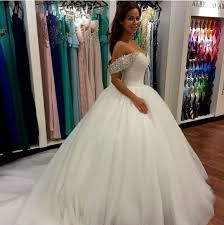 simple wedding dresses princess ballgown bridal gowns with court