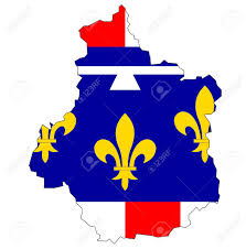 France Region Map by Old Map With Flag Of Department Administrative Region Of France