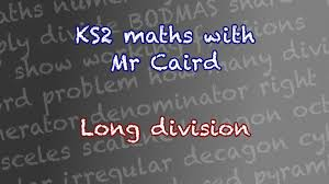 ks2 maths year 6 solving long division problems youtube