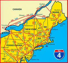 map of ne usa and canada new atlantic northeast usa 04 hallwag road map stanfords