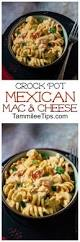 slow cooker crock pot mexican mac and cheese recipe tammilee tips
