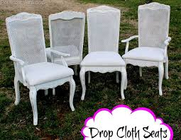 cloth chair covers drop cloth seats and white painted chairs petticoat junktion