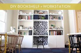 Built In Bookshelves With Desk by Diy Bookshelf With Built In Desk Curbly