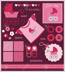 a set of images for the newborn the red pink color scheme