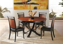 Orland Park Black  Pc Round Dining Set Dining Room Sets Colors - Black dining room sets