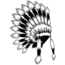 native american indian headdress wall sticker world of wall stickers