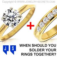 wedding rings together when do you solder your rings together jewelry secrets