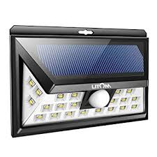 Solar Lights How Do They Work - litom solar lights outdoor wireless 24 led motion sensor solar
