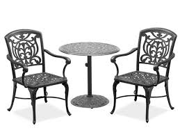 Patio Furniture High Top Table And Chairs by Fabulous Cast Aluminum Bistro Set Patio Furniture Camden 3 Piece