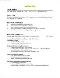 Ministry Resume Template Pastor Resume Templates Pastor Resume Senior Samples Youth Email