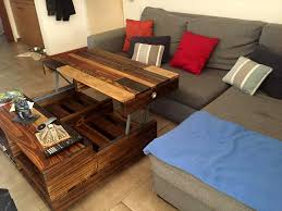 diy lift up top pallet coffee table with storage u0026 wheels 101