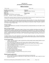 Resume For Medical Assistant Job by Medical Assistant Job Description For Resume Free Resume Example