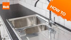 How To Replace A Kitchen Sink Part  Fitting Your New Sink YouTube - Fitting a kitchen sink