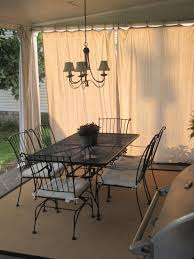 back patio reveal drop cloth curtains porch and drop