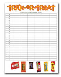 track your loot halloween candy graphing
