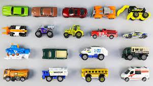 learn vehicle names with toy cars trucks u0026 bus u2013 educational