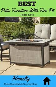 best patio furniture with fire pit table sets for your yard