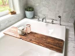 reclaimed barnwood bath shelf