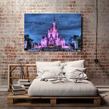Schlafzimmer Cinderella Premium H2060 Starry Cinderella Castle Baum Landschaft Hd Leinwand Druck