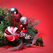 decoration and silver balls on tree