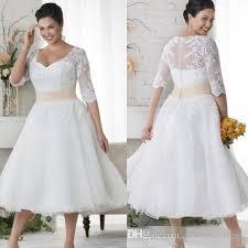 discount plus size wedding dresses short half sleeves wedding